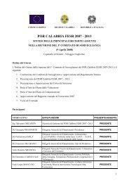 POR CALABRIA FESR 2007 - 2013 - Rete Pari Opportunita