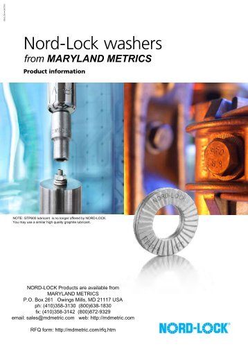 Nord-Lock washers - Maryland Metrics