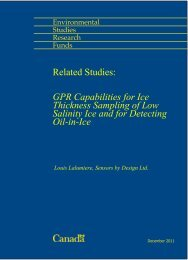 GPR Capabilities for Ice Thickness Sampling of Low Salinity Ice and ...