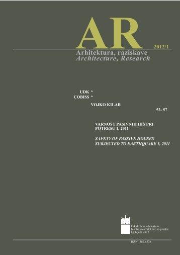 Vojko Kilar - Fakulteta za arhitekturo
