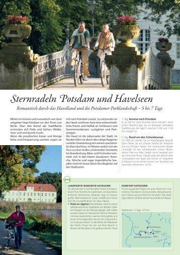 Sternradeln Potsdam und Havelseen - Die Landpartie Radeln und ...