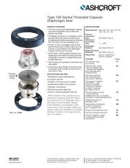 Type 100 Series Threaded Capsule Diaphragm Seal - Temp-Press Inc
