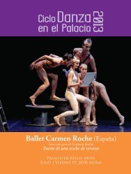 Ciclo de Danza en el Palacio de Bellas Artes - Coordinacion ...