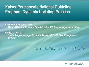 Kaiser Permanente National Guideline Program: Dynamic Updating ...