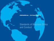 Business Ethics and Conduct - General Dynamics NASSCO-Norfolk