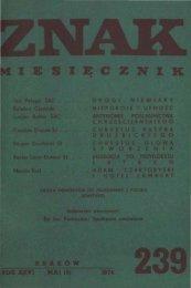 Nr 239, maj 1974 - Znak