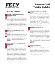 November 2003 Training Modules