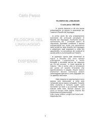 Filosofia del linguaggio - Dipartimento di Filosofia