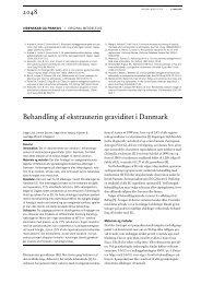 Behandling af ekstrauterin graviditet i Danmark - Ugeskrift for Læger
