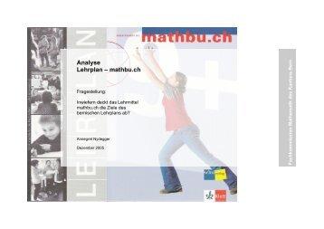 Analyse Lehrplan – mathbu.ch - WOLFsWEB