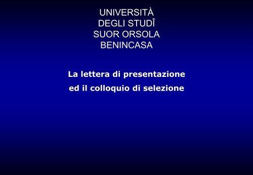 questo collegamento - Istituto Universitario Suor Orsola Benincasa