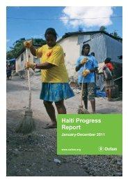 Haiti Progress Report: January – December 2011 - Oxfam ...