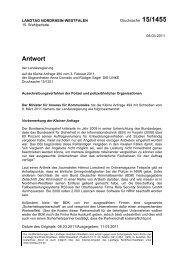 Drs. 15/1455 vom 08.03.2011 - Sagel, Rüdiger (Die Linke)