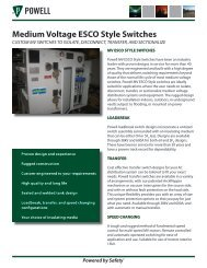 Medium Voltage ESCO Style Switches - Powell Industries, Inc.