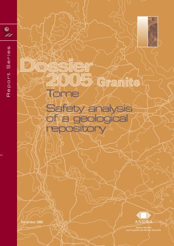 Tome Safety analysis of a geological repository - Andra