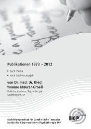 Publikationen 1973 – 2012 von Dr. med. Dr. theol ... - IKP Institut