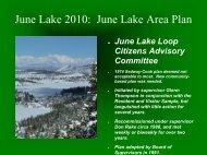 June Lake 2010: June Lake Area Plan - Mono County