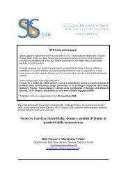 donne e uomini di fronte ai prodotti della tecnoscienza - STS Italia