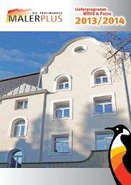 Lieferprogramm WDVS - Farben Schultze