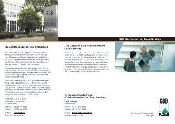 Flyer GOB Rechenzentrum - GOB Software & Systeme