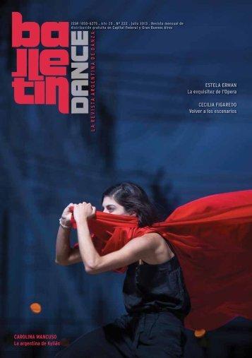 LA REVIS T A AR GENTINA DE D A NZ A ESTELA ... - Balletin Dance