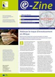 Atténuer le risque d'investissement en Afrique - ACP Business Climate