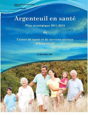 Plan stratégique 2011-2015 - CSSS Argenteuil