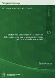 n. 69 - Il protocollo diagnostico terapeutico dello screening ... - Saluter