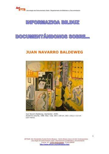 juan navarro baldeweg - Biblioteca Centro de Documentación - Artium
