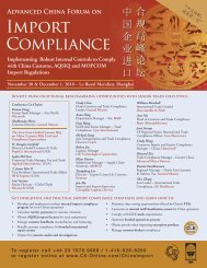 Import Compliance - C5