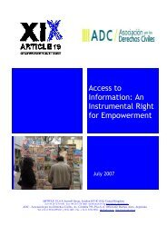 Access to Information: An Instrumental Right for ... - Article 19