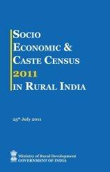 socio economic & caste census in rural india - Right to Food ...