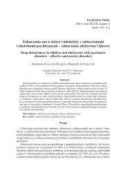 zaburzenia afektywne i lękowe - Psychiatria Polska