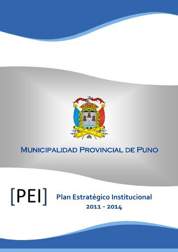 Plan Estrategico Institucional - Municipalidad Provincial de Puno