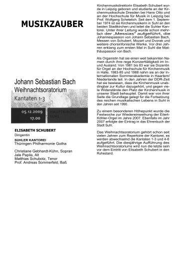 Johann Sebastian Bach - Henneberger Land