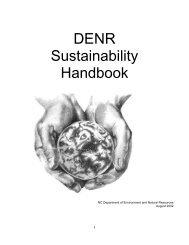 DENR Sustainability Handbook - NC Project Green