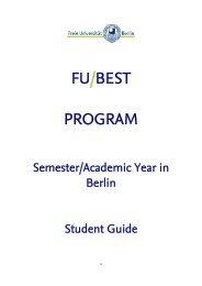 FU-BEST Student Guide - Freie Universität Berlin