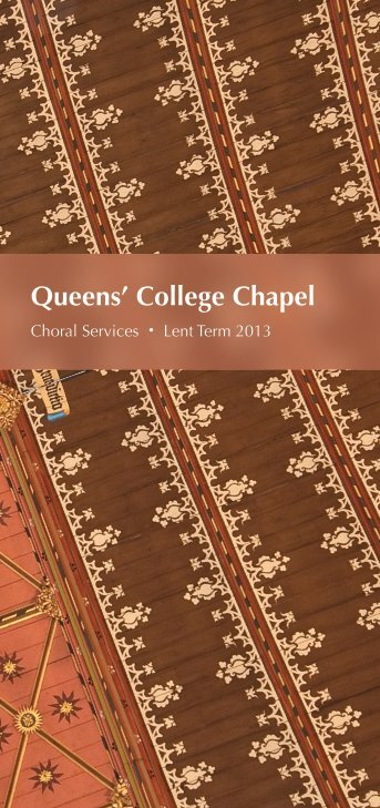 Lent 2013 - College Choir