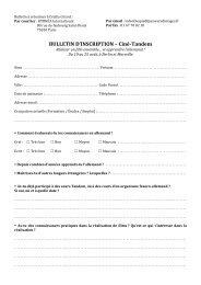 Bulletin cine tandem - 2 pages
