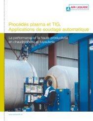 Procédés plasma et TIG. Applications de soudage ... - BLUESHIELD