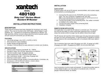 IR Receiver - Xantech.com on electrical switch wiring diagram, splice in a light switch diagram, bedroom diagram,