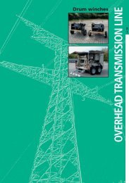 O VERHEAD TRANSMISSION LINE Drum winches - Zeck GmbH