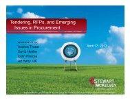Tendering, RFPs, and Emerging Issues in ... - Stewart McKelvey
