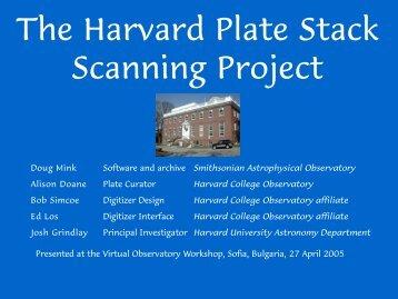 PDF Powerpoint presentation - SAO Telescope Data Center