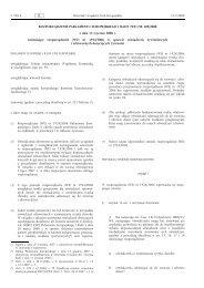 ROZPORZĄDZENIE PARLAMENTU EUROPEJSKIEGO I ... - EUR-Lex