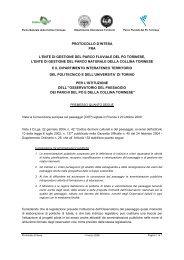 Protocollo d'intesa - osservatorio del paesaggio dei parchi del po e ...