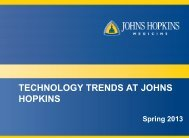 technology trends at johns hopkins - The Johns Hopkins Institute for ...