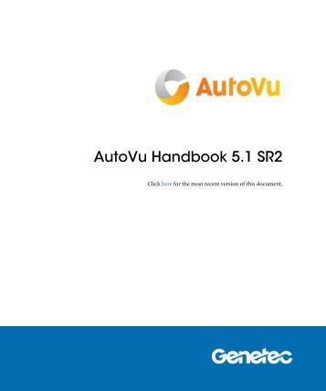 AutoVu Handbook 5.1 SR2 - Genetec