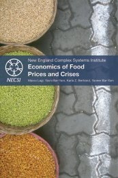 Economics of Food Prices and Crises - New England Complex ...