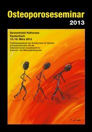 Osteoporoseseminar 2013 - Österreichische Gesellschaft für ...